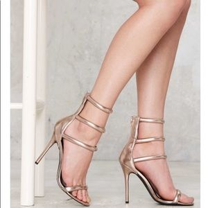 Nasty Gal On A Level Heels - Rose Gold